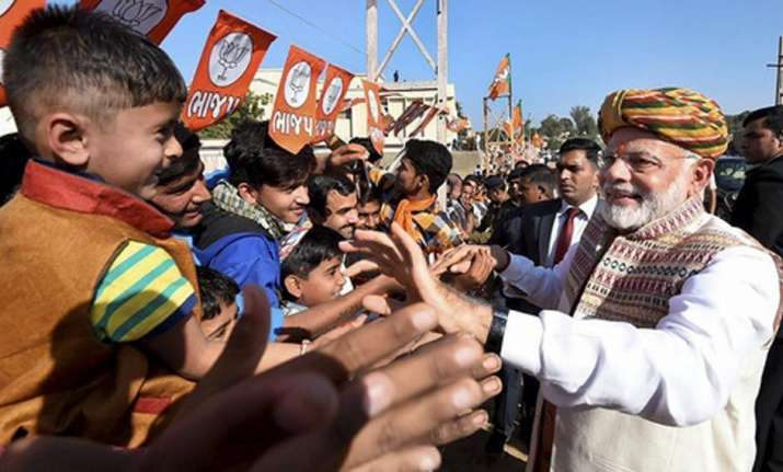 BJP appeared to be on its way to retain power in the state,