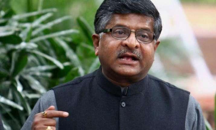 Law and IT minister Ravi Shankar Prasad