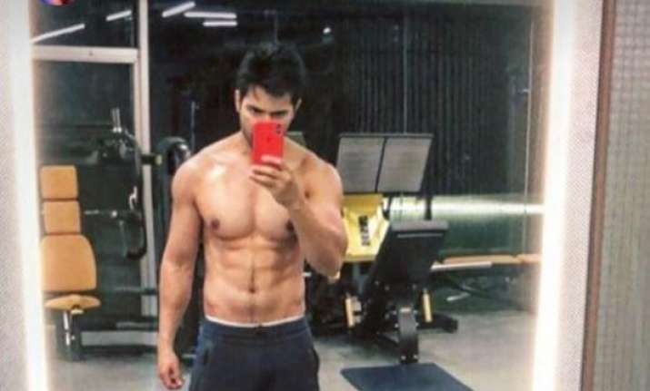 This Picture Of Varun Dhawan Showing Off His Chiselled Body Will