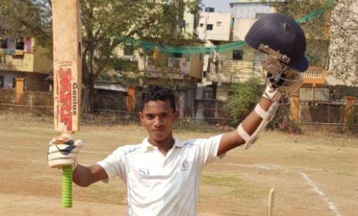 Tanishq Gavate scored an unbeaten 1045 runs.Photo:FILE IMAGE