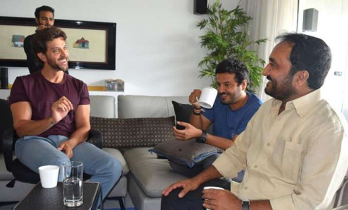 Hrithik Roshan with Anand Kumar
