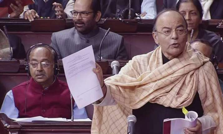 Finance Minister Arun Jaitley in Rajya Sabha. File Photo.