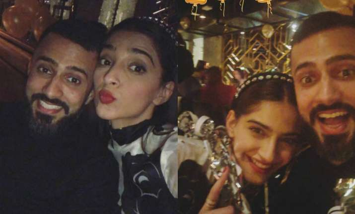 Sonam Kapoor and Anand Ahuja celebrated New Year together