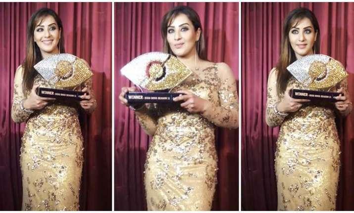 Shilpa Shinde thanks fans after winning Bigg Boss 11