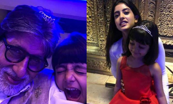 Amitabh Bachchan with his granddaughters