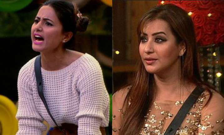 Shilpa Shinde and Hina Khan (PC: Twitter)