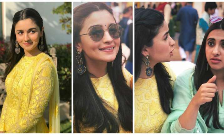 Alia Bhatt in splashing yellow
