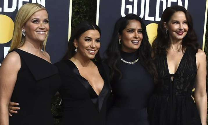 312a59f877a Representative News Image Image Source   PC TWITTER  WORLD CWS Golden Globes  black dresses protest
