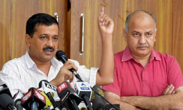 File photo of Arvind Kejriwal and Manish Sisodia.