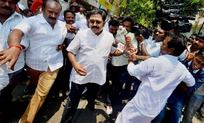 Dhinakaran was also present in the court following summons