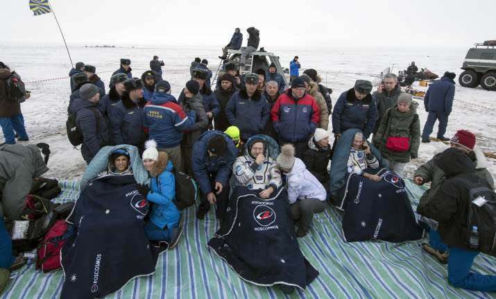 NASA and Roscosmos astronauts back on Earth after months in