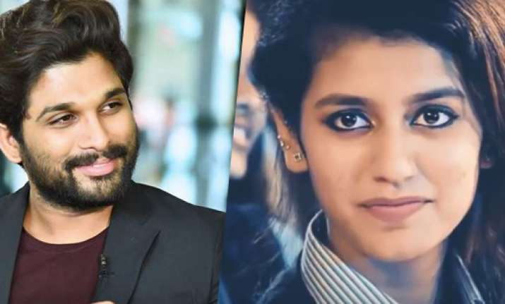 Telugu actor Allu Arjun in awe of Priya Prakash Varrier's
