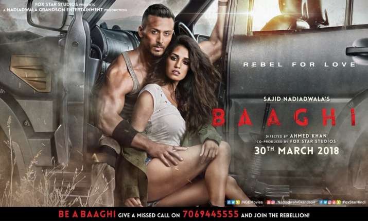 Baaghi 2 posters featuring Tiger Shroff and Disha Patani