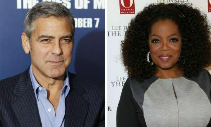 Oprah Winfrey, George Clooney donate $1 million against gun