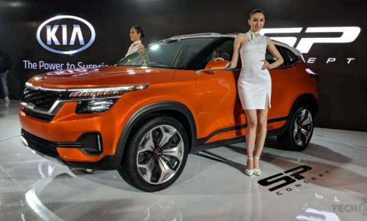 auto expo 2018 kia motors debuts in india to launch vehicle in 2019 cars news india tv. Black Bedroom Furniture Sets. Home Design Ideas