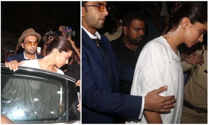 Deepika Padukone Ranveer Singh for Sridevi funeral