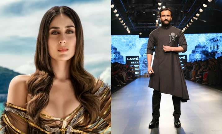Saif Ali Khan at LFW and Kareena Kapoor