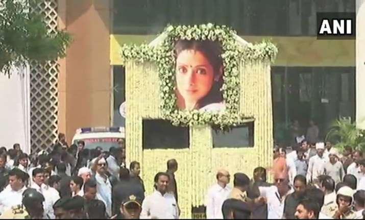 Sridevi's final journey begins