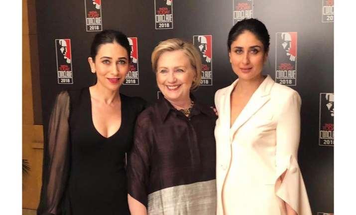 Kareena Kapoor Khan, Karisma Kapoor, Hillary Clinton