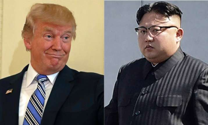 US President Donald Trump and North Korean dictator Kim