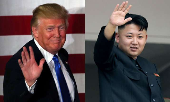 US President Donald Trump with North Korean dictator Kim