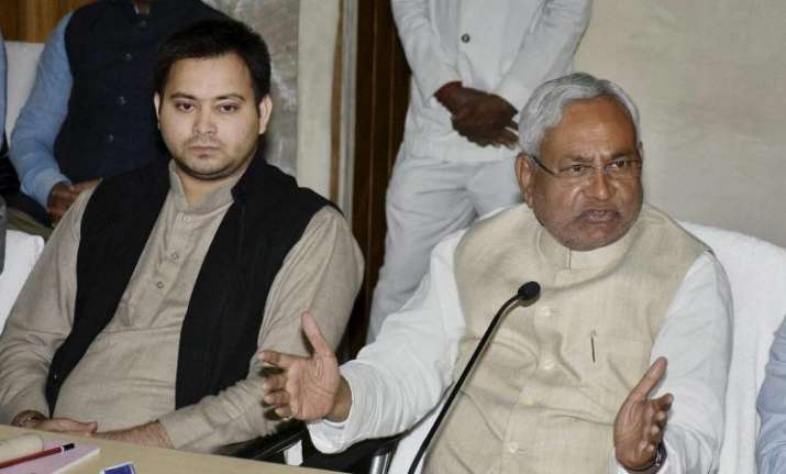 Nitish Kumar with Tejashwi yadav - File photo