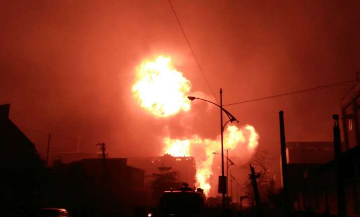 Major fire breaks out after explosion in chemical factory