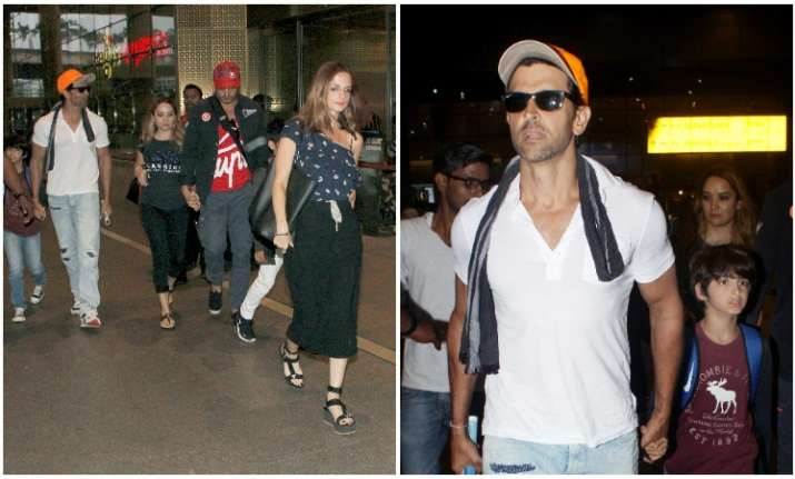 Hrithik Roshan is back from family vacation