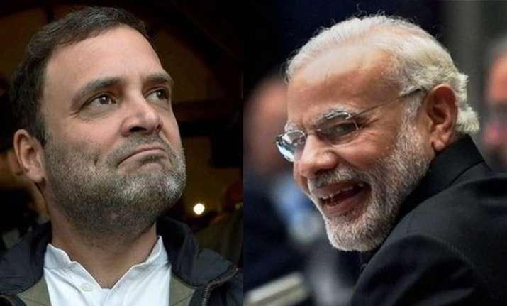 Congress president Rahul Gandhi and PM Narendra Modi.