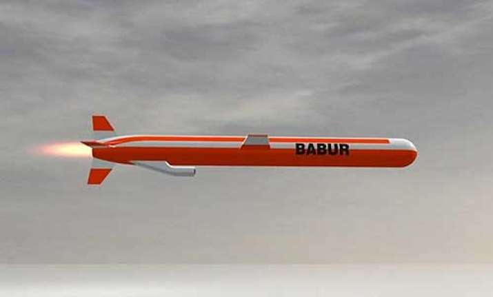 File photo of Pakistan's cruise missile Babur Weapon