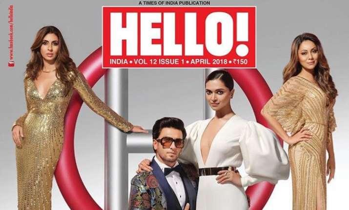 Ranveer Singh and Deepika Padukone strike a pose on Hello