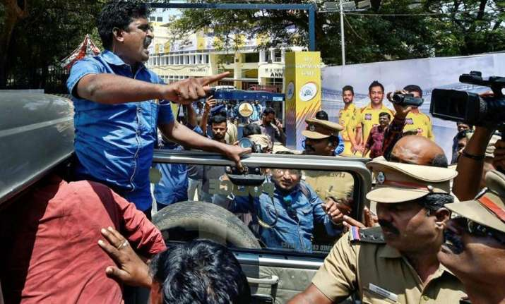Cauvery row: Over 350 people detained for protests outside