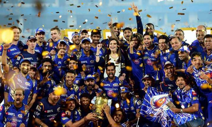 File image of Mumbai Indians after winning the IPL trophy