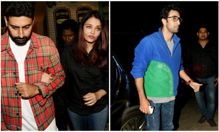 Aishwarya rai bachchan Abhishek Bachchan and others at