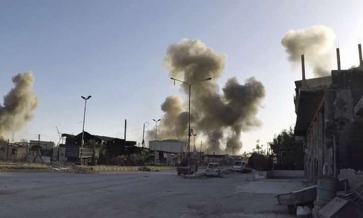 US, France and UK launched combined airstrikes in Syria