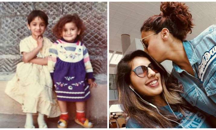 Yami Gautam and Taapsee Pannu with their sisters