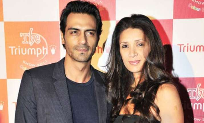 Arjun Rampal and Mehr