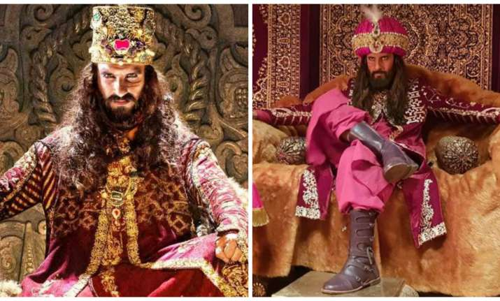 Ranveer Singh and Ravi Dubey as Alauddin Khilji