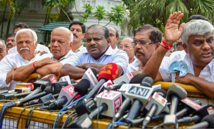 Bengaluru: JD(S) President HD Kumaraswamy with KPCC