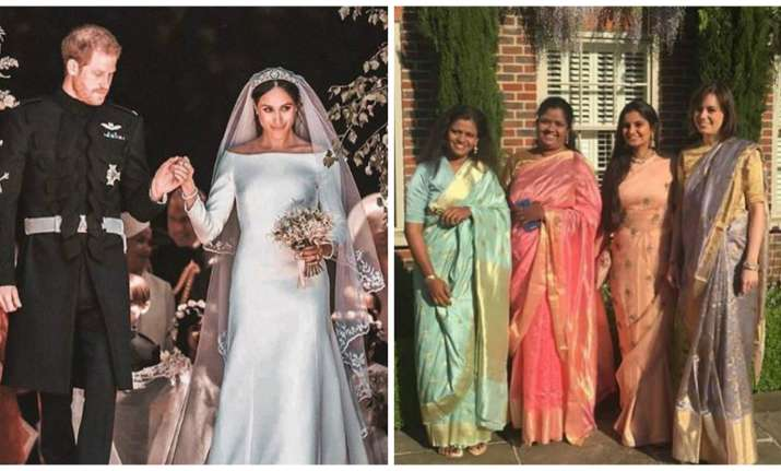 When An Indian Sari Graced Royal Wedding Of Prince Harry And Meghan