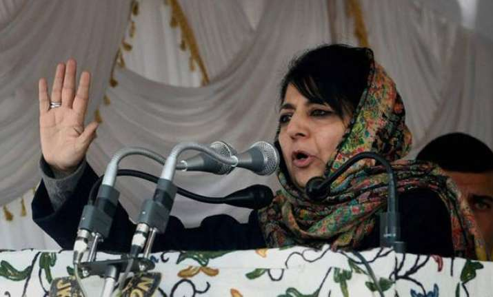 File photo of Jammu and Kashmir CM Mehbooba Mufti.