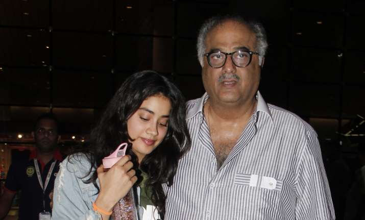 Janhvi Kapoor, Boney Kapoor