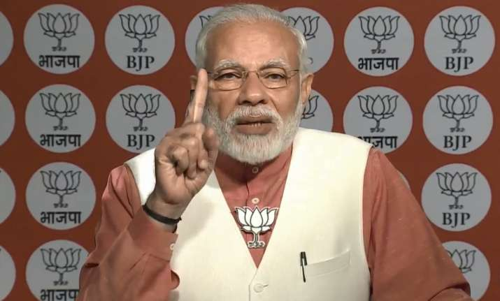 PM Modi to Slum Morcha Karyakartas LIVE: 'Congress did not