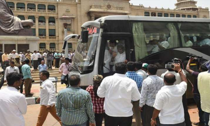 Congress, JD(S) MLAs being shifted to Hyderabad hotel from