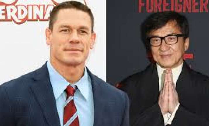 Wrestler John Cena teams up with Jackie Chan for