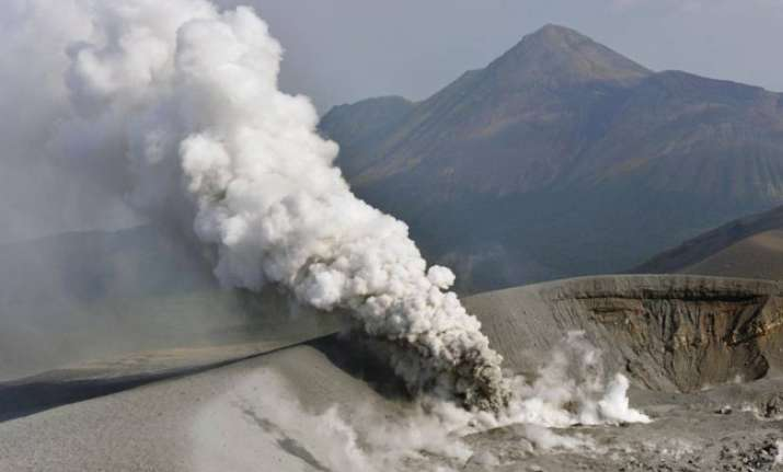 Volcanic Erruption in Japan Mt. Shinmoe