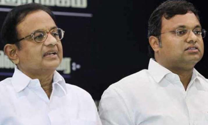 P Chidambaram and his son