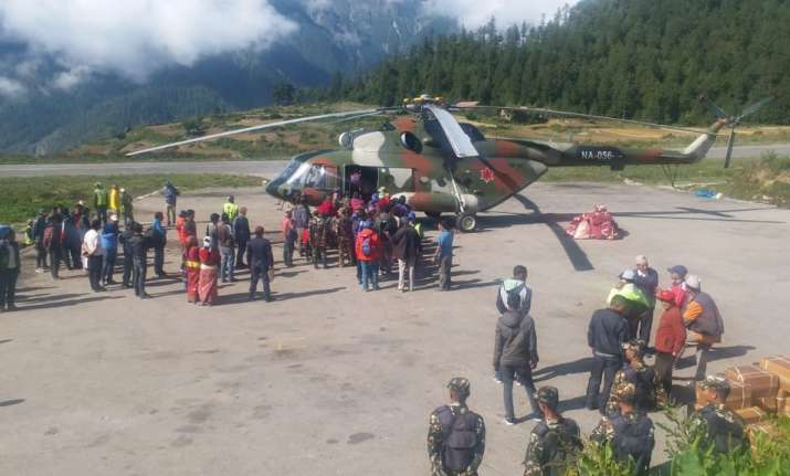 Nepal Army and commercial flights have been pressed into