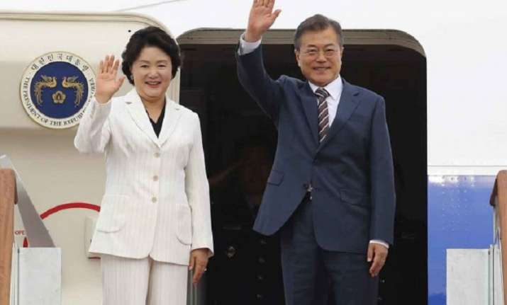 The South Korean leader is also set to hold talks with