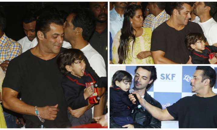 Salman Khan and Ahil Sharma